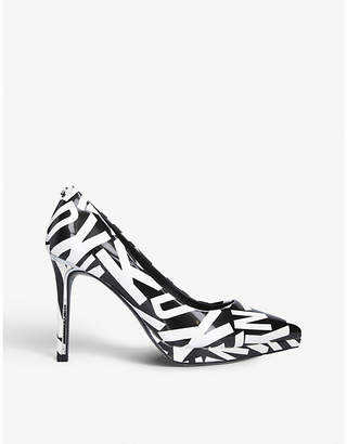 DKNY Lexi leather heeled courts
