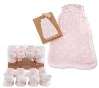 Baby AspenInfant Boy's Baby Aspen Sweet Snuggles 2-Pack Socks & Wearable Blanket Set
