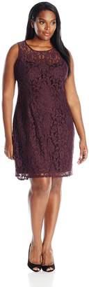BB Dakota Women's Plus-Size Hyde Lace Fit and Flare Dress