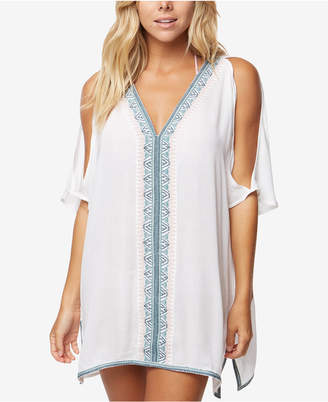 O'Neill Juniors' Cyrus Cold-Shoulder Cover-Up Dress Women's Swimsuit