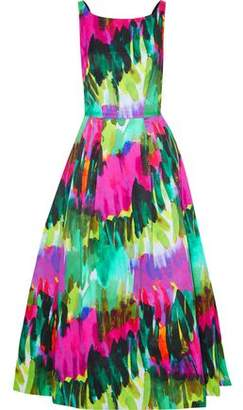 1f9ef07bc8 Milly Serena Open-back Printed Cotton-blend Twill Midi Dress