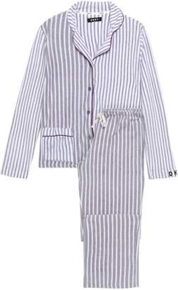 DKNY Striped Fleece Pajama Set