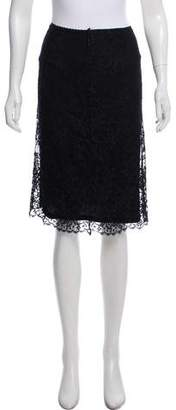 Collette Dinnigan Lace Knee-Length Skirt