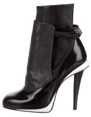 Fendi Jodhpur Stingray Ankle Boots