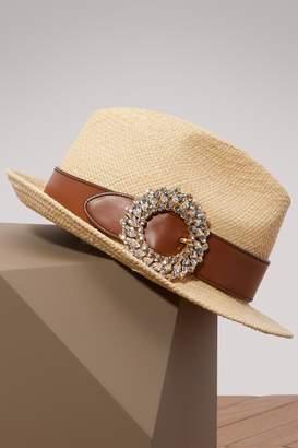 Miu Miu Straw panama hat
