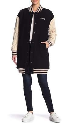 Scotch & Soda Love Wool Blend Longline Bomber Jacket