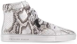 Philipp Plein Python hi-top sneakers