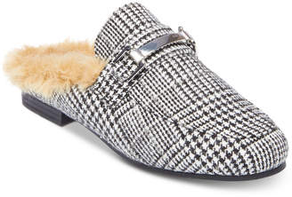 Steve Madden Women's Khloe Faux-Fur Tailored Mules
