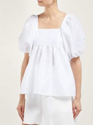 Cecilie Bahnsen - Rima Puff Sleeve Faille Top - Womens - White