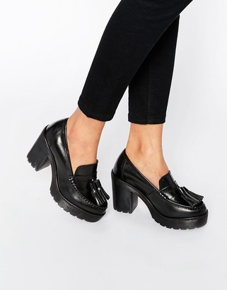 Bronx Heeled Loafer Shoe $94 thestylecure.com