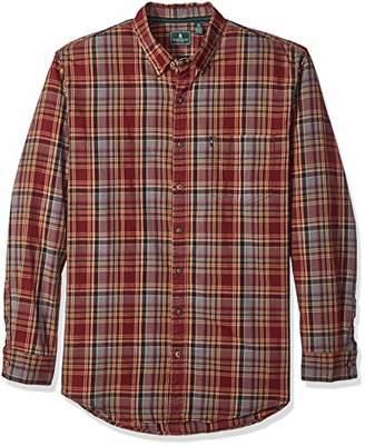 G.H. Bass & Co. Men's Big and Tall Madawaska Long Sleeve Button Down Plaid Shirt