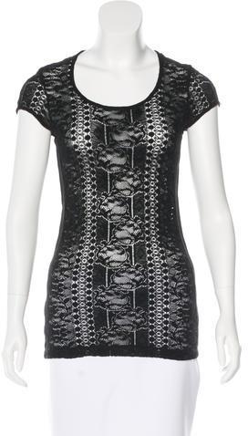 GivenchyGivenchy Lace Short Sleeve Top