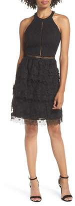 Heartloom Victoria Ruffle Lace Halter Dress