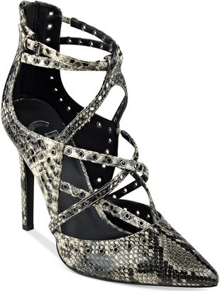 G by GUESS Farrell Caged Pumps $79 thestylecure.com