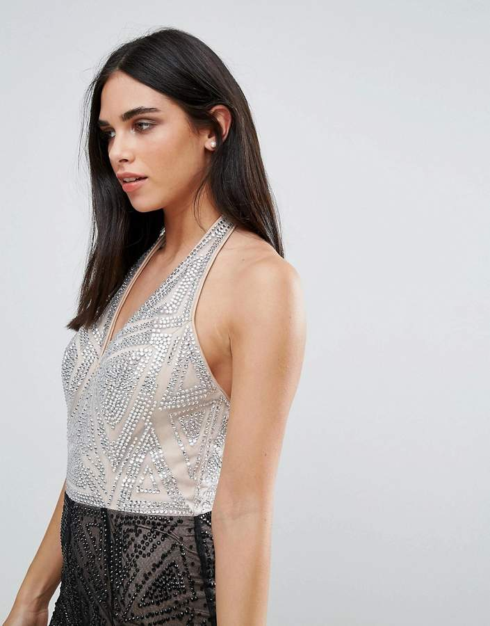 Forever Unique Halter Neck Maxi Dress
