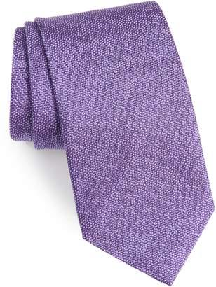 David Donahue Solid Silk Tie