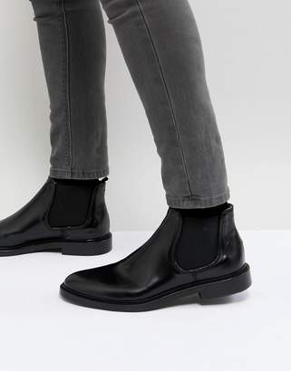 WALK LONDON Walk London Darcy Leather Chelsea Boots In Black