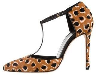 Gucci Ponyhair Ankle-Strap Pumps