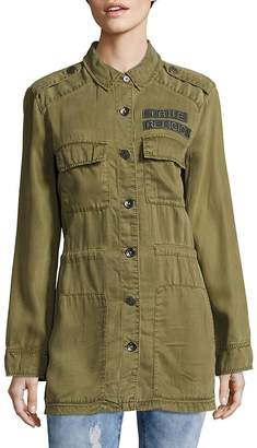 True Religion Women's Long Sleeve Military Jacket