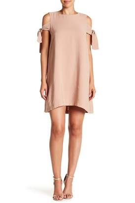J.o.a. Tie Cold Shoulder Dress