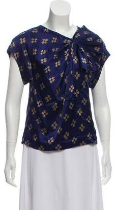 3.1 Phillip Lim Silk Printed Short Sleeve Top