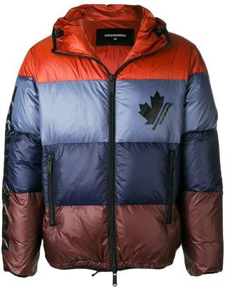 DSQUARED2 colour blocked padded jacket