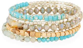 Nakamol Amazonite Crystal Wrap Stretch Bracelet