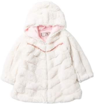 WIDGEON Faux Fur Tiered Hooded Coat (Toddler Girls)