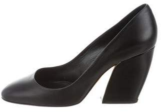 Pierre Hardy Leather Round-Toe Pumps