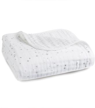 aden + anais Silver Printed White Blanket $98.40 thestylecure.com