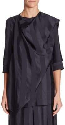 Victoria Beckham Three-Quarter Sleeve Wrap Top