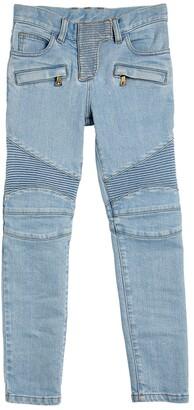 dc60d46d Balmain Stretch Cotton Denim Biker Jeans