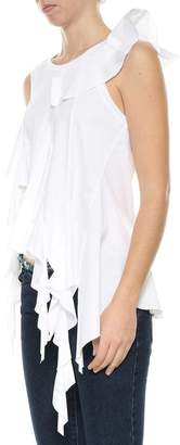 Marques Almeida Marques'almeida Marques'almeida Sleeveless Top With Frills