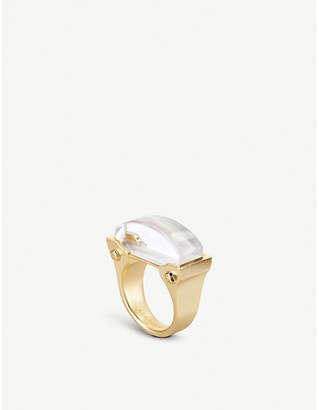 Kendra Scott Jeanne 14ct gold-plated Ivory Mother of Pearl cocktail ring
