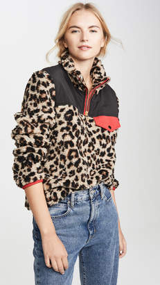 Veronica Beard Jean Kylan Sherpa Pullover