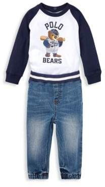 Ralph Lauren Boy's Two-Piece T-Shirt& Denim Joggers Set