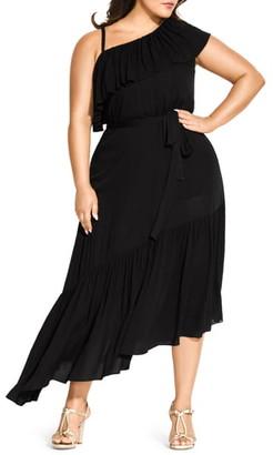 City Chic Beach Love One-Shoulder Maxi Dress