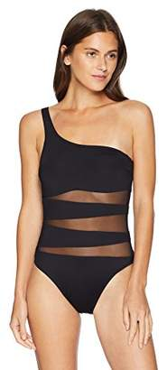 Kenneth Cole New York Women's Shoulder One Piece Swimsuit