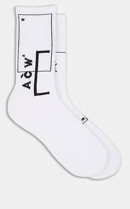 A-Cold-Wall* Men's Logo Cotton Mid-Calf Socks - White