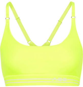 Adam Selman Sport - Neon Stretch Sports Bra - Yellow