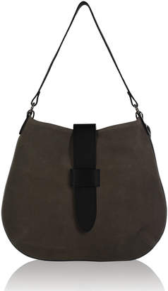 Joanna Maxham Tulip Coffee Suede Hobo Bag