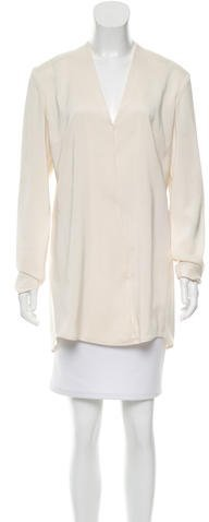 Alexander Wang T by Alexander Wang Long Sleeve V-Neck Tunic