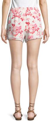 Joie Layana Floral Chiffon Shorts