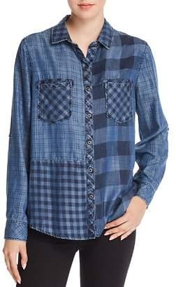 Billy T Mixed Plaid Chambray Shirt
