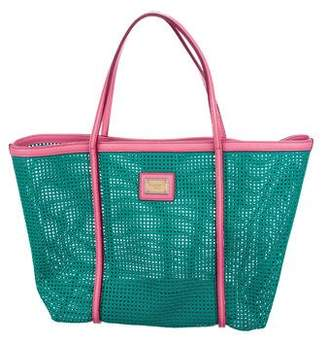 0f6d301acc2d Pre-Owned at TheRealReal · Dolce   Gabbana Mesh Leather Tote