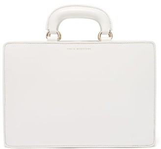 Emilia Wickstead Briefcase Style Leather Bag - Womens - White