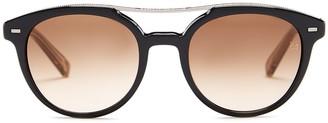 Ermenegildo Zegna Women's Acetate Round Sunglasses $285 thestylecure.com