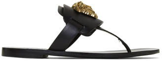Versace Black Palazzo Thong Sandals