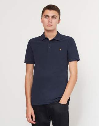 Farah Blaney Short Sleeve Polo Shirt Navy