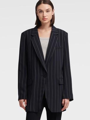 DKNY Boxy Striped Blazer
